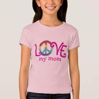 Camiseta Ropa a juego de la mamá y de la hija - paz y amor