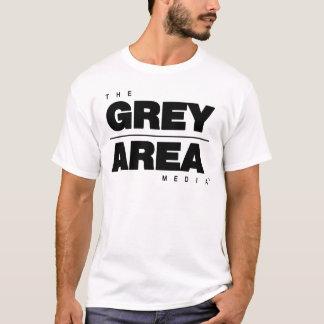 Camiseta Ropa blanca negra del área gris
