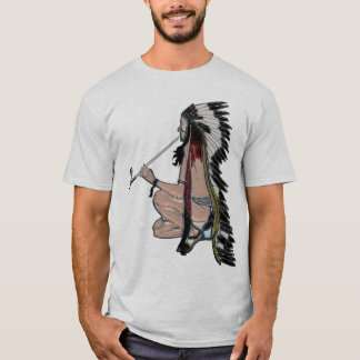Camiseta Ropa del nativo americano POPART del tubo de paz