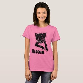 Camiseta Ropa negra de la ropa del estampado de animales
