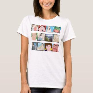 Camiseta Ropa personalizada foto de las señoras del mosaico