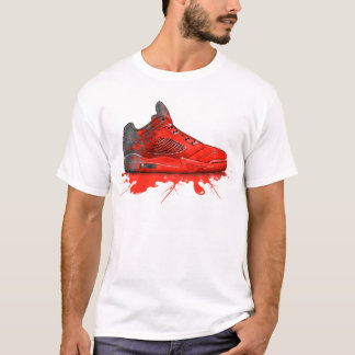 Camiseta Ropa retra 2016 de Air Jordan (rojo carmesí)