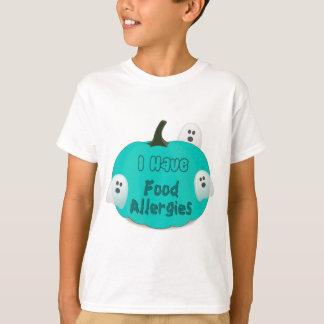 Camiseta Ropa verde azulada de Halloween de la calabaza de