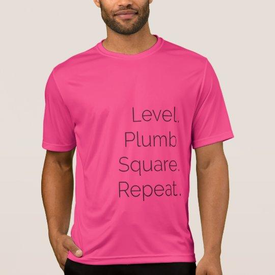 Camiseta Rosa cuadrado vertical llano de los SS del