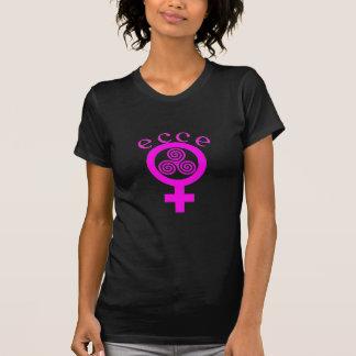 Camiseta Rosa de Ecce Femina en negro