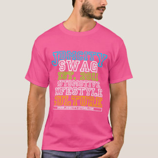 Camiseta Rosa de la universidad de JDM para hombre