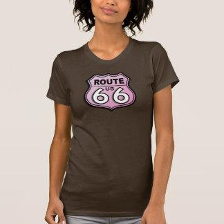 Camiseta Rosa histórico de la ruta sesenta y seis