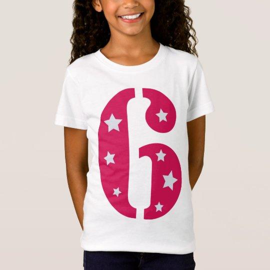 Camiseta rosada de la superestrella 6