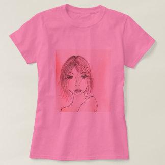 camiseta rosada de las mujeres