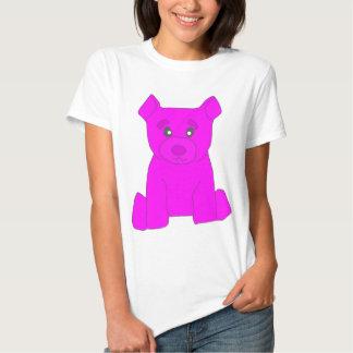 Camiseta rosada de las mujeres del oso