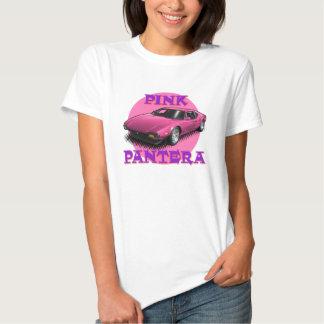Camiseta rosada de las señoras de Pantera