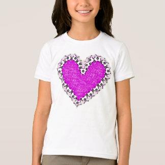 Camiseta rosada de los chicas del recorte del