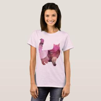 Camiseta rosada del gatito
