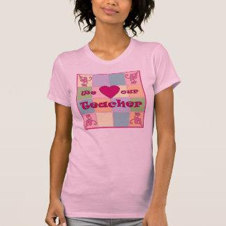 Camiseta (rosada) del remiendo del profesor