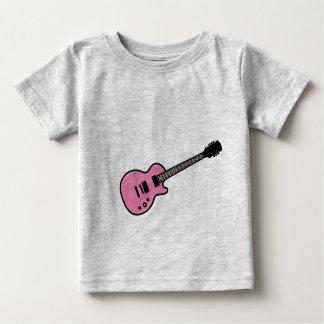 Camiseta rosada linda de la guitarra para los