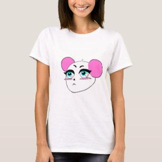 Camiseta rosada linda de la panda