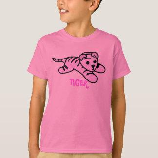 Camiseta rosada linda del TIGRE
