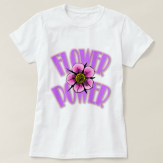 Camiseta Rosado-N-Púrpura del flower power
