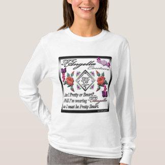 Camiseta Rosas rojos, mariposas púrpuras, manga larga de