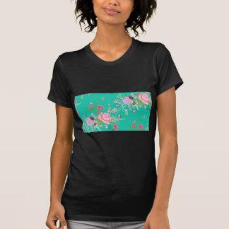 Camiseta Rosas y ornamento 3 de las mariposas