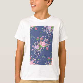 Camiseta Rosas y ornamento 4 de las mariposas