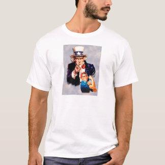 Camiseta Rosie el diseño del remachador y del tío Sam