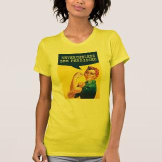 Camiseta Rosie el poster del remachador - sin embargo ella