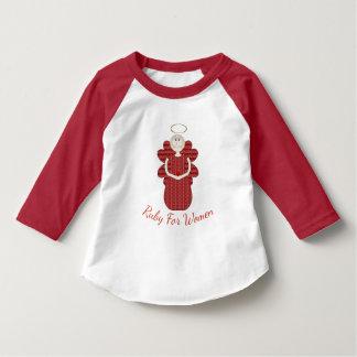 Camiseta Rubí para el ángel del rojo de las mujeres