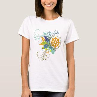 Camiseta Rueda de Dharma floral