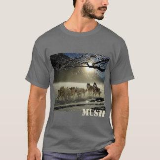 Camiseta Ruido de fondo de la imagen del equipo del trineo