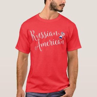 Camiseta rusa de los corazones de Entwinted del