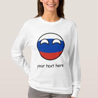 Camiseta Rusia Geeky que tiende divertida Countryball