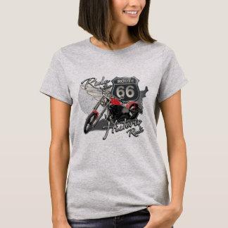 Camiseta Ruta 66, motocicleta del paseo del vintage