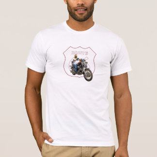Camiseta Ruta clásica 66 de la motocicleta del virago de
