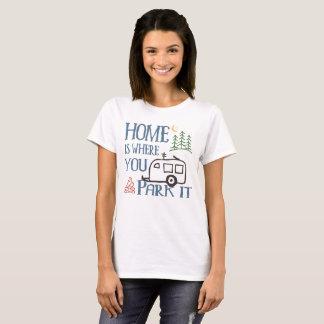 Camiseta Rv que acampa a casa
