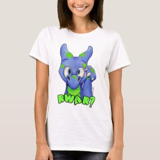 Camiseta ¿RWAR? (Azul) dragón lindo del bebé que ruge