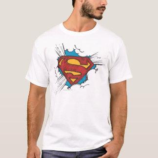 Camiseta S-Escudo el   del superhombre dentro del logotipo