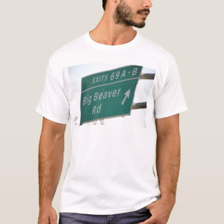 Camiseta Salida grande 69 del camino del castor de la