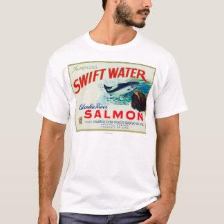Camiseta Salmones rápidos del agua de Astoria, Oregon - de