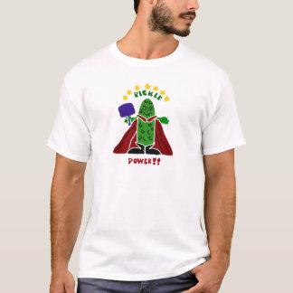 Camiseta Salmuera divertida del superhéroe de Pickleball