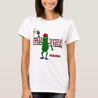 Camiseta Salmuera divertida que juega Pickleball con el