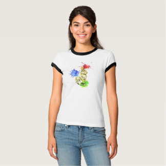 Camiseta Salpicadura del conejito