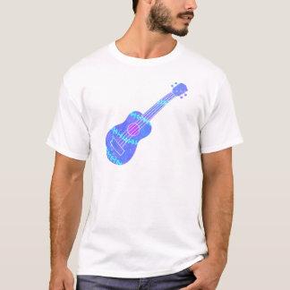 Camiseta Salpicón azul de la pintura del Ukulele
