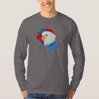 Camiseta Salpicón blanco de Eagle y azul rojo calvo