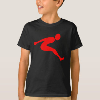Camiseta Salto de longitud - rojo