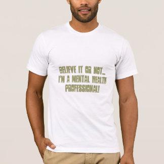 Camiseta Salud mental Profesional-Psych. Humor de la