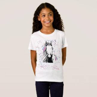 Camiseta salvaje, libre, y colorida de la juventud