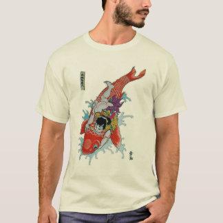 Camiseta Samurai contra pescados gigantes del koi