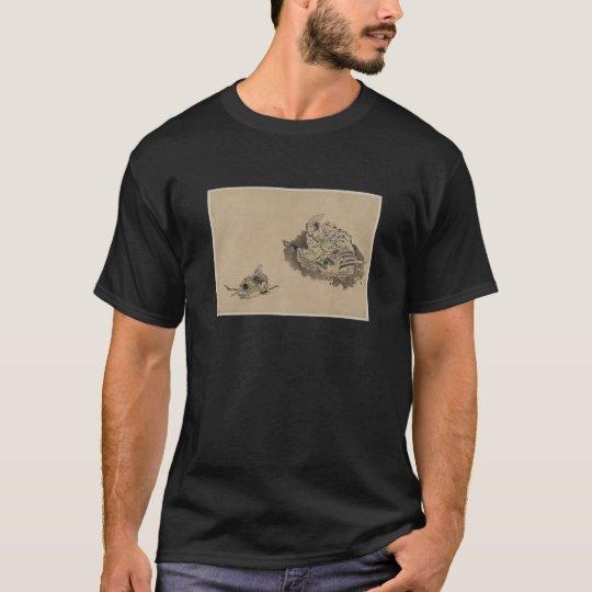 Camiseta Samurai de enseñanza del niño del viejo samurai
