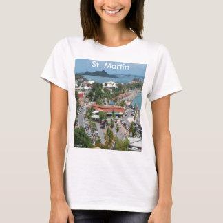 Camiseta San Martín y foto de la bahía de Marigot